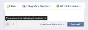 cum programez postarile pe facebook